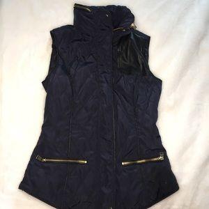 Zara Basic Zipper Navy Vest XS